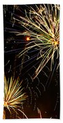 Paint The Sky With Fireworks  Beach Towel