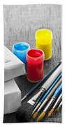 Paintbrushes With Canvas Beach Towel