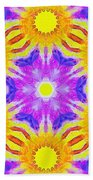 Painted Cymatics 161.66hz Beach Towel
