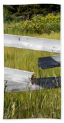 Painted Fence Beach Towel