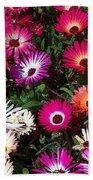 Painted Flowers Beach Towel