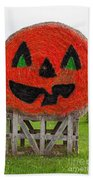 Painted Hay Bale Beach Towel