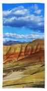 Painted Hills Blue Sky 3 Beach Towel