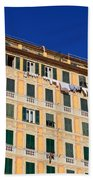 painted homes in Camogli Beach Towel