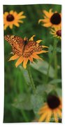 Painted Lady With Friends Beach Towel