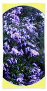 Painted Lilacs Beach Towel