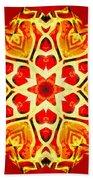 Painted Lotus Xi Beach Towel
