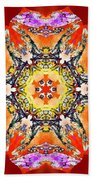 Painted Lotus Xvii Beach Towel