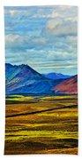 Painted Mountain Beach Towel