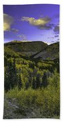 Painted Mountains Beach Towel
