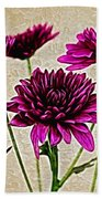 Painted Pink Bouquet Beach Towel