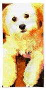 Painted Puppy Beach Towel