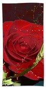 Painted Rose Beach Sheet by M Montoya Alicea
