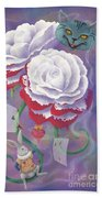 Painted Roses For Wonderland's Heartless Queen Beach Sheet