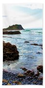 Painted Seascape Beach Towel