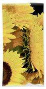 Painted Sunflowers Beach Towel