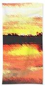 Painted Sunset Beach Towel