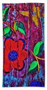Painted Table Beach Towel