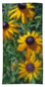 Painterly Flowers Beach Towel
