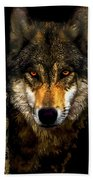 Painting ... Wolf In Aspen Grove Beach Towel