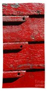 Painting It Red Beach Towel