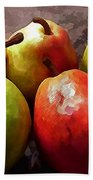 Painting Of Apples And Pears Beach Towel