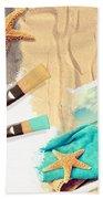 Painting Summer Postcard Beach Towel by Amanda Elwell