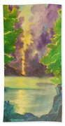 Paintings By Lyle Beach Towel