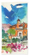 Palace In Sintra Beach Towel