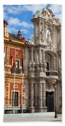 Palace Of San Telmo In Seville Beach Towel