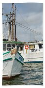 Palacios Texas Two Boats In View Beach Towel