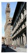 Palazzo Vecchio And Uffizien Beach Towel