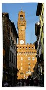 Palazzo Vecchio In Florence Italy Beach Towel