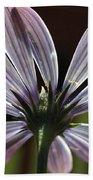 Pale Blue Flower Backlit Beach Towel
