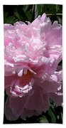 Pale Pink Peony Watercolor Effect Beach Towel