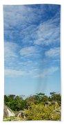 Palenque Temples Beach Towel