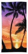 Palm Beach Sundown Beach Towel