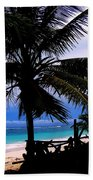 Palm Shadows Beach Towel