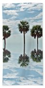 Palm Tree Reflection Beach Towel