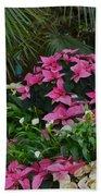 Palms And Flowers Beach Towel