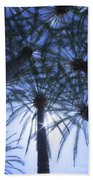Palm Trees In The Sun Beach Towel