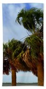 Palm Trees In The Wind Beach Towel