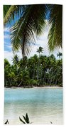 Palm Trees On The Beach, Rangiroa Beach Towel