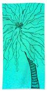 Palm Turquoise  Beach Towel