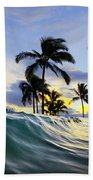 Palm Wave Beach Towel