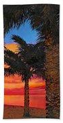 Palme Al Tramonto Beach Towel by Guido Borelli