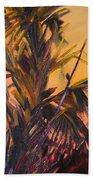 Palmettos At Dusk Beach Towel