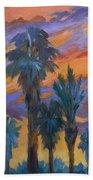 Palms And Sunset Beach Towel