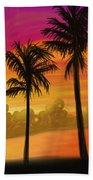Palms Over St. Croix Beach Towel