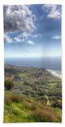 Palos Verdes Peninsula Hdr Beach Towel